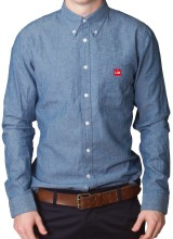 Men's Slim Fit Chambray Shirt